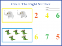 Printable Counting Numbers Worksheet
