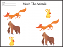 Printable Matching Kids Worksheet