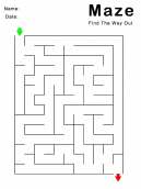 Printable Find Your Way Out Maze Games