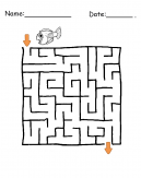 Printable Fish Maze Games