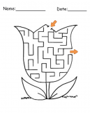 Printable Flower Maze Games