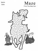 Printable Horse and Cowboy Maze Games