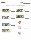 Write the Denomination Money Printable Worksheets