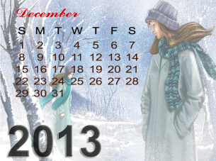 Printable Monthly December Calendars