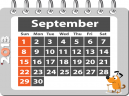 Printable September Monthly Calendars