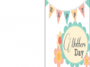 Printable Bunting Mothers Day Card