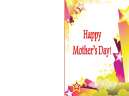 Printable Glittering Happy Mothers Day Cards