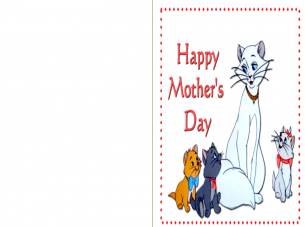 Printable Kittys Mothers Day Cards