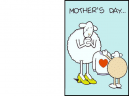 Printable Lamb Happy Mothers Day Cards