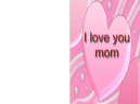 Printable Pink Hearts Mother's Day Cards
