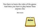Albert Einstein Rules Printable Quotes