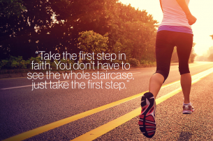 First Step Motivational Quote