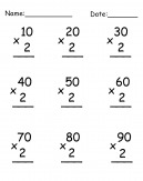 Math Multiplication Worksheet
