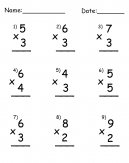 Multiplication Single Digit Printable Worksheets