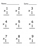 Multiplication Worksheet