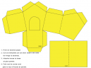 yellow paper crafts house