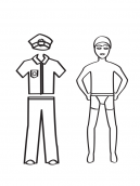 Printable Policeman Paper Doll Crafts