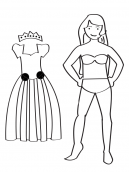 Printable Princess Doll
