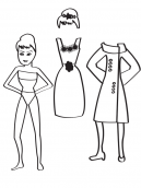 Printable Retro Paper Doll Crafts