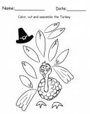 Turkey Cut and Assemble Printable Crafts