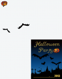 Halloween Pumpkins and Ghost Printable Invitation
