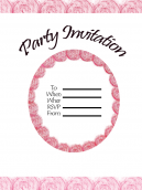 Pink Floral Christmas Printable Invitations
