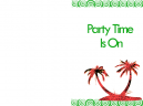Printable Beach Party Invitations