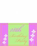 Printable Eighteen Birthday Party Invitations