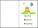 Printable Lets Party Invitations