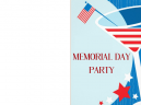 Printable Memorial Day Flag Invitations