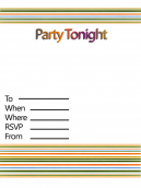 Printable Mod Party Invitations