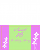 Printable Sweet Sixteen Party Invitations