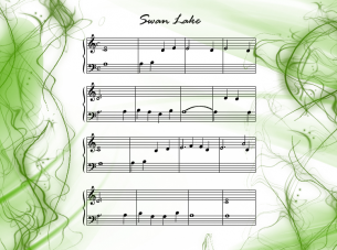 Printable Swan Lake Piano Music