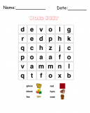 Glove Word Hunt Puzzle Printable Games