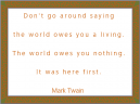Mark Twain Green Border Printable Quotes
