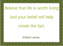 William James Green Border Printable Life Quotes