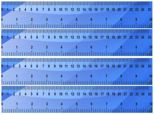 graphic regarding Free Printable Ruler named Blue Geometric Behavior Printable Ruler
