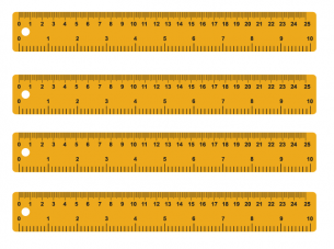 photo relating to Free Printable Ruler known as Vibrant Printable Rulers