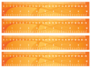 Orange Wavy Ruler Printable Crafts