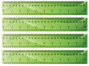 Printable Green Waves Craft Rulers