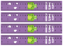 Printable Purple Ruler