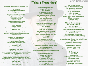 Take It From Here Printable Sheet Music