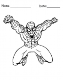 Leaping Spiderman Printable Coloring Pages