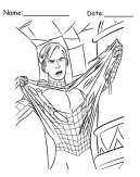 Spiderman Costume Printable Coloring Sheets