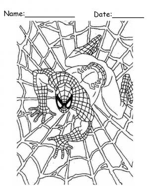 Spiderman Printable Coloring Pages - Coloring Home | 385x305