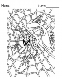 Spiderman Web Printable Coloring Pages