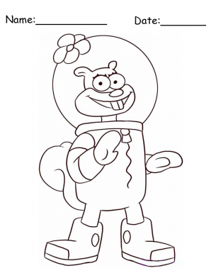 Sandy cheeks spongebob printable coloring pages for Sandy cheeks coloring pages