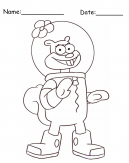 Sandy Cheeks SpongeBob Printable Coloring Pages