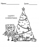 Spongebob Christmas Printable Calendars