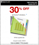 Printable Staples Dividers Coupon